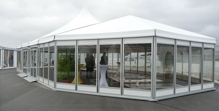 Elegant designed galss walls high peak exhibitions tent [BS series]