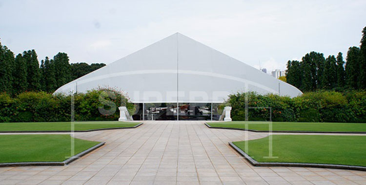 Singapore Istana 40x40m Curve Tent