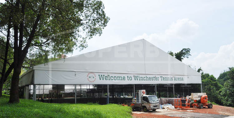 High quality sport tent for tennis arena in Singapore