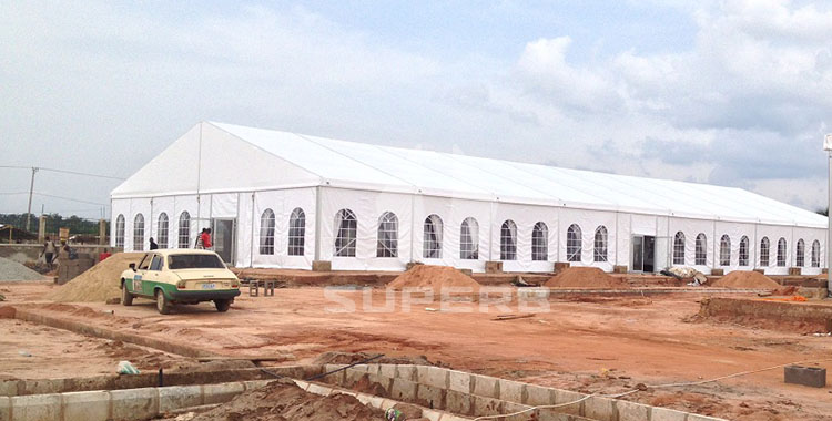 20x50m wedding party tents in Nigeria